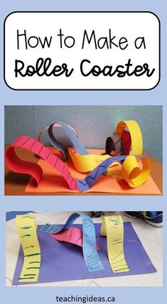 If you can't go on a roller coaster, why not make one?  Kids can create the roller coaster of their dreams with this simple craft that mixes design/engineering and art.  Happy creating! Kindergarten Learning, Learning Activities, Kids Learning, Hands On Activities, Preschool Activities, Stem For Kids, Educational Crafts, Roller Coaster, Elementary Schools
