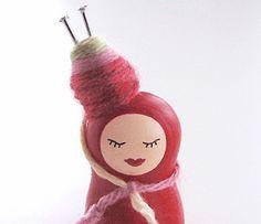 She So Crafty - Karokeshi - Kokeshi sculpture Totally cute!