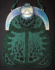 Art Deco Purse - Egyptian style bag - an extraordinary accessory!
