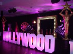 Hollywood Letters, Hollywood Theme Party Ideas, Hollywood Party Decorations | Event Prop Hire
