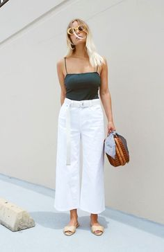 Love the white trousers