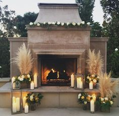 Our beautiful fireplace. #jennrobirdevents