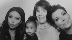 Does North West get her serious side from her mom, Kim Kardashian? The adorable 2-year-old posed for some family pictures at a surprise high school graduation party that radio host (and Keeping Up With the Kardashians executive producer) Ryan Seacrest threw for her aunts Kendall and Kylie Jenner.