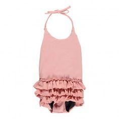 Costume da Bagno Intero Volants Rosa chiaro  Little Creative Factory