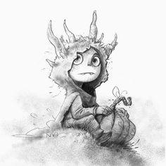 Pumpkin sketch by Guille Rancel