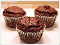 Chocolate Shakeology Muffins     ✅ 21 Day Fix Approved: 1/2  Yellow Container & 1/2 Red Container  ❤ Recipe Yields...