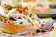 Рецепт горячих бутербродов c курицей