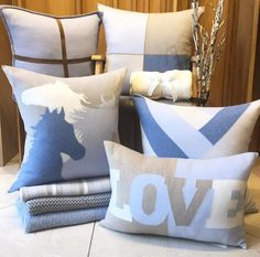 www.horsealot.com, the equestrian social network for riders & horse lovers   Equestrian Lifestyle : horse pillow by Rani Arabella.