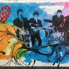 The Beatles . All You Need is Love. Acrylic on canvas board, size A1, £300.