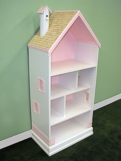 Easy way to build a book case doll house. Starts with a laminate shoe organizer.