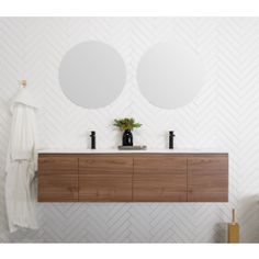 ADP Glacier Ceramic Slim Wall Hung Vanity [Limited storage; only 2 drawers on outer]