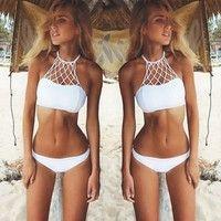 Wish | Sexy Bikini Set Bandage Push-Up Padded Swimwear Swimsuit Suit Beachwear Beachsuit