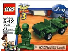 LEGO Disney / Pixar Toy Story Set #30071 Army Jeep by LEGO. $8.69. A Toy Story 3 LEGO Set. This little set packs a big punch! Included is one little green jeep, and one green army man with a radio!