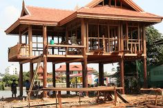 traditional house in thailand - construction