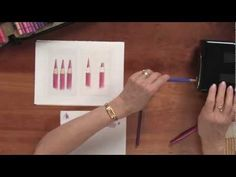 Stamping and Colored Pencil Techniques - YouTube