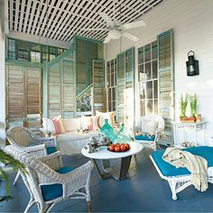 14. Add Awnings or Shutters - 20 Easy Summer Upgrades for Outdoor Spaces - Coastal Living