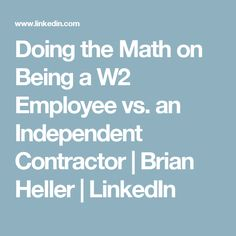 Employee Or Independent Contractor How To Tell The Difference