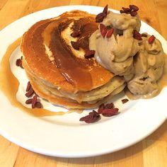 Vegane Pancakes - milchfrei, eifrei, laktosefrei, ein schmackhaftes Rezept aus…