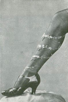 Silk stockings from Bouvier Frères, Les Modes July 1922. Photo by Henri Manuel.