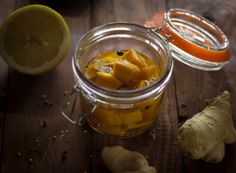 Preserved Ginger Lemon Pumpkin - rock the taste #Food #Recipe #Autumn