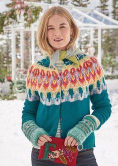 The Lane Fairisle Women/'s Wool Blend Fringe Pattern Pullover Sweater