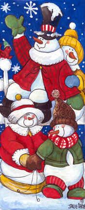 Snow Family II by Jamie Carter ~ Christmas ~ snowmen