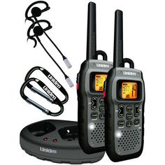 Keep in contact to stay safe. This Pair of 50-Mile Submersible 2-Way Radios is rugged and floatable as well as fully submersible. They provide 7 FRS channels for short-range communication and 15 GMRS channels for long-distance.