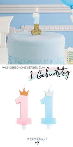 """Niedliche und modern designte Kuchenkerzen in Form der Zahl """"1"""" für die Tortendeko auf dem ersten Kindergeburtstag und dazu passende Motivkerzen haben wir hier für Sie zusammengestellt. Birthday Cake, Form, Candles, Nice Asses, Kids, Ideas, Birthday Cakes, Cake Birthday"""