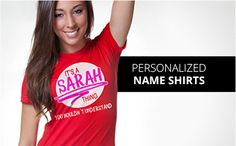 Personalized Name T-Shirts