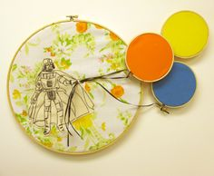 Star Wars embroidery by 365 LUCKY DAYS. this is basically the best thing ever.