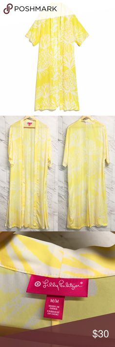Lilly Pulitzer for Target kimono Satin kimono in the print pineapple punch. This sweet kimono in a punchy-yellow color is perfect for lounging by the pool.   •No trades •No holds •Offers & bundles can be made through the offer/bundle tools Lilly Pulitzer for Target Swim Coverups