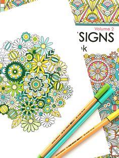 Flower Designs Coloring Book, Volume 2 — Jenean Morrison Art & Design