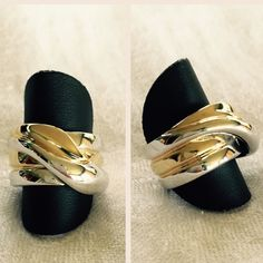 'Concerto' ring. Size 7. Premier Designs. Gold and rhodium plated. Two-toned with gold and silver. Size 7. High quality-durable ring. Brand new. Never worn. Premier Designs quality. Premier Designs Jewelry Rings