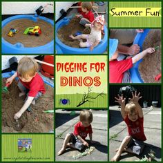 Digging For Dinos in The Sandbox - Castle View Academy Outdoor Learning, Kids Learning, The Good Dinosaur, Dinosaur Dig, Summer Fun For Kids, Kids Fun, Toddler Activities, Activities For Kids, Kindergarten Themes
