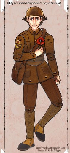 Articulated Paper Doll Corporal Thomas by RivkaZ on Etsy, $6.00
