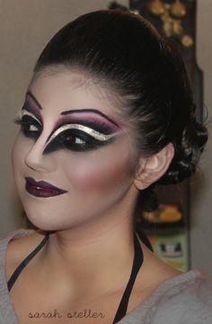 Smirnoff Midnight Circus. #theatrical makeup. #circus