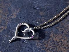 GENTLE HEART INTERTWINED PENDANT www.luminariumjewelry.com