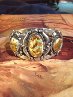 Boulder Turquoise and Sterling Silver Cuff