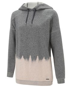 Loose-fit hooded jumper in soft, thermal fabric. The beautiful bleach dip-dye effect is unique to each individual garment, making each Parkour Sweat Dress one of a kind.