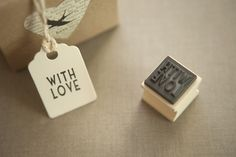 'With Love' Rubber Stamp - Wedding in a Teacup