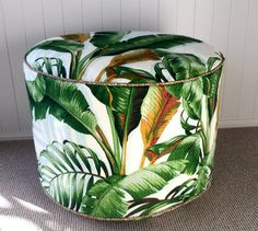 Tommy Bahama Green Blue Brown Cream Tropical palm by frenchpouque
