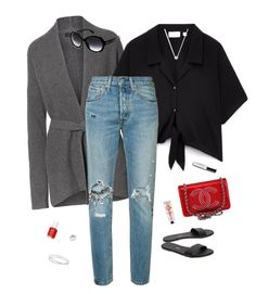 """""""#129"""" by heelsandgo on Polyvore featuring Levi's, Tkees, Links of London, Maison Margiela, Ray-Ban, Kobelli, The Body Shop, Essie and Chanel"""