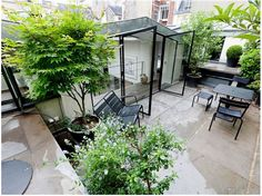 outdoor terrace - black - fermob luxembourg