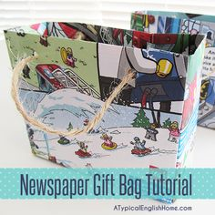 A Typical English Home: How To Make Newspaper Gift Bags