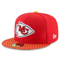 66e619fa62420e Kansas City Chiefs New Era Youth 2017 Sideline Official 59FIFTY Fitted Hat  - Red