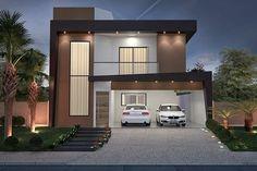Plano de casa con balcón #fachadasminimalistas