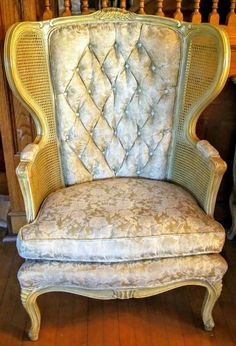 Antique Louis XVI French Regency Provincial Caned Sides Wingback Chair In  Antiques, Furniture, Chairs