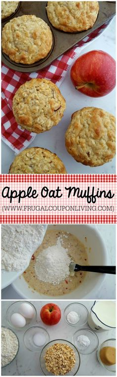 Apple Oat Muffins from Scratch on Frugal Coupon Living. Serve warm, store for a few days or freeze for later. More Apple Recipes. Breakfast Recipe. Muffin Recipe.