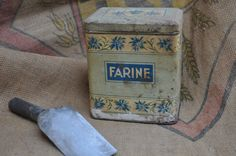 Shabby French Country Canister for Farine or Flour