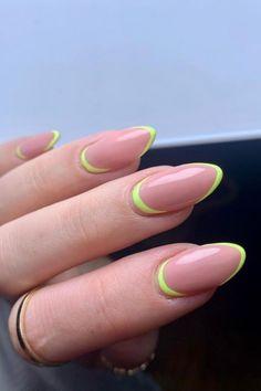 french tip almond nails, french almond nails, almond nails, round french tip nails, trendy french tip nails, almond nails short, french tip almond nails short french tip almond nails long, french tip almond nails with design, french tip almond nails color, french tip almond nails stilettos, summer nails, spring nails, nail shapes, short almond nails, #nailart#naildesigns#acrylicnails#spiringnailfrench#clevelandnails##nailhacks#nailsofinstagram#nailsoftheday#nailpolish#gelnails#gelpolish#nailsha Natural Almond Nails, Almond Nails French, Short Almond Nails, Almond Shape Nails, French Tip Acrylic Nails, French Nail Art, French Nail Designs, Soft Nails, Flower Nail Designs